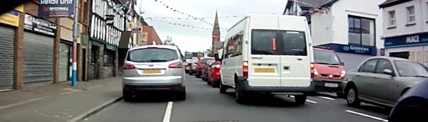 Blocked cycle lane