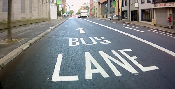 May Street Belfast bus lane