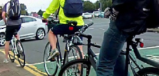 Rising numbers of cyclists, most visible at major Belfast junctions