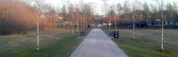 Alderman Tommy Patton Memorial Park entrance path