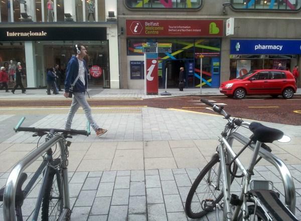 Belfast city centre bike racks