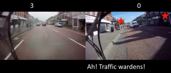 Traffic wardens clearing Cregagh Road - Reclaim Belfast's Cycle Lanes July 2012