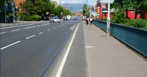 Drainage trench lane, Ormeau Bridge Belfast
