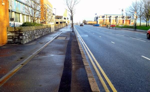 Service trench lane, East Bridge Street Belfast