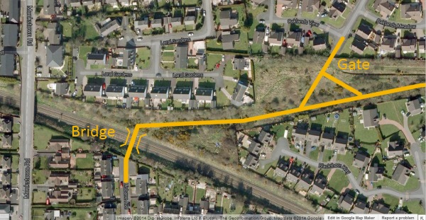 Greenway approach to Monkstown - finding the best route
