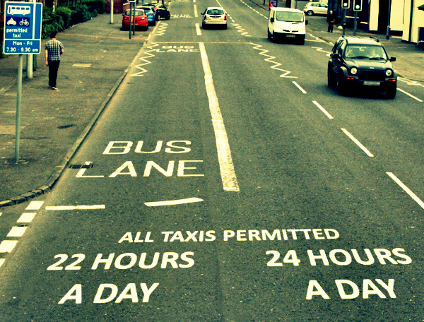 Bus Lanes 22 hours